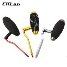 EKFan высокое качество EVA ручка+ металлическая ручка для baitcasing Рыболовная катушка Т-образная 8*5 мм два отверстия удилище для рыбалки для Daiwa