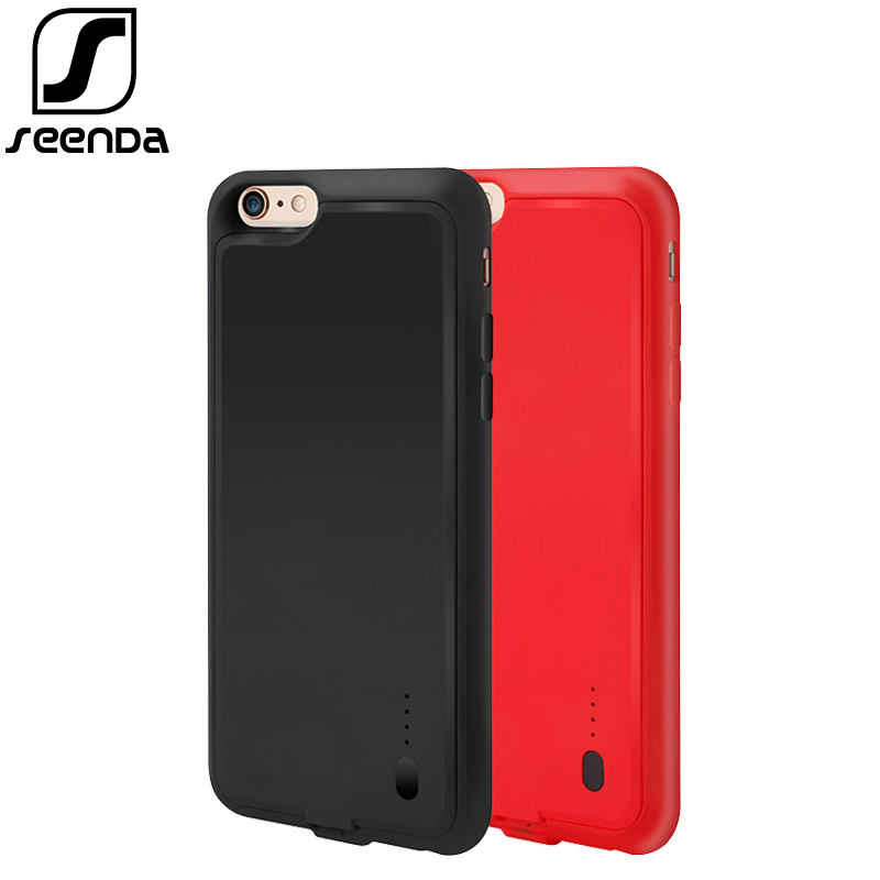 SeenDa Mobile Phone Battery Case For iPhone 6/6S Charging Battery Cover with Power Bank Charger Case For iPhone 6 Plus/6S Plus
