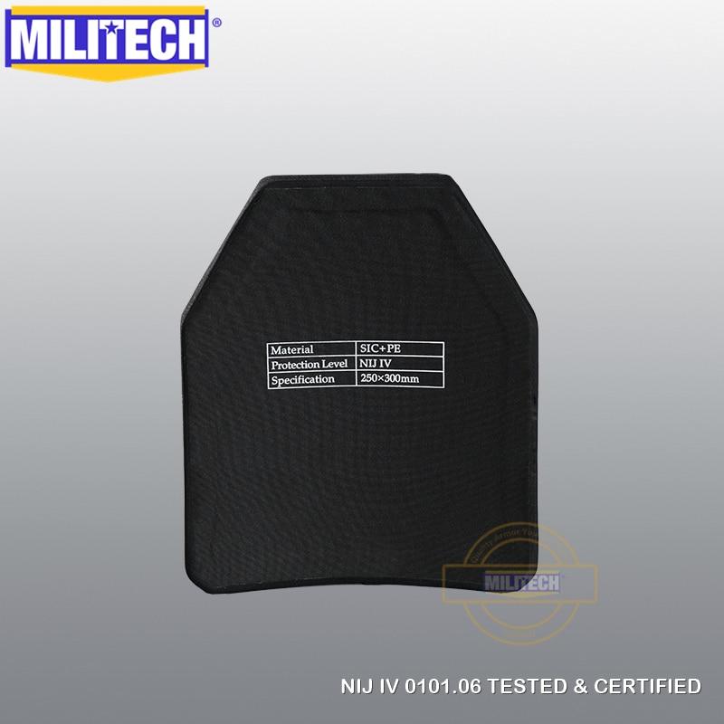 Image 4 - MILITECH Two Pieces Set Multi Curve SIC & PE NIJ IV Bulletproof Plate Pair of NIJ Level 4 Stand Alone Ballistic Panels FREE SHIPcurvepanelcurve sets -
