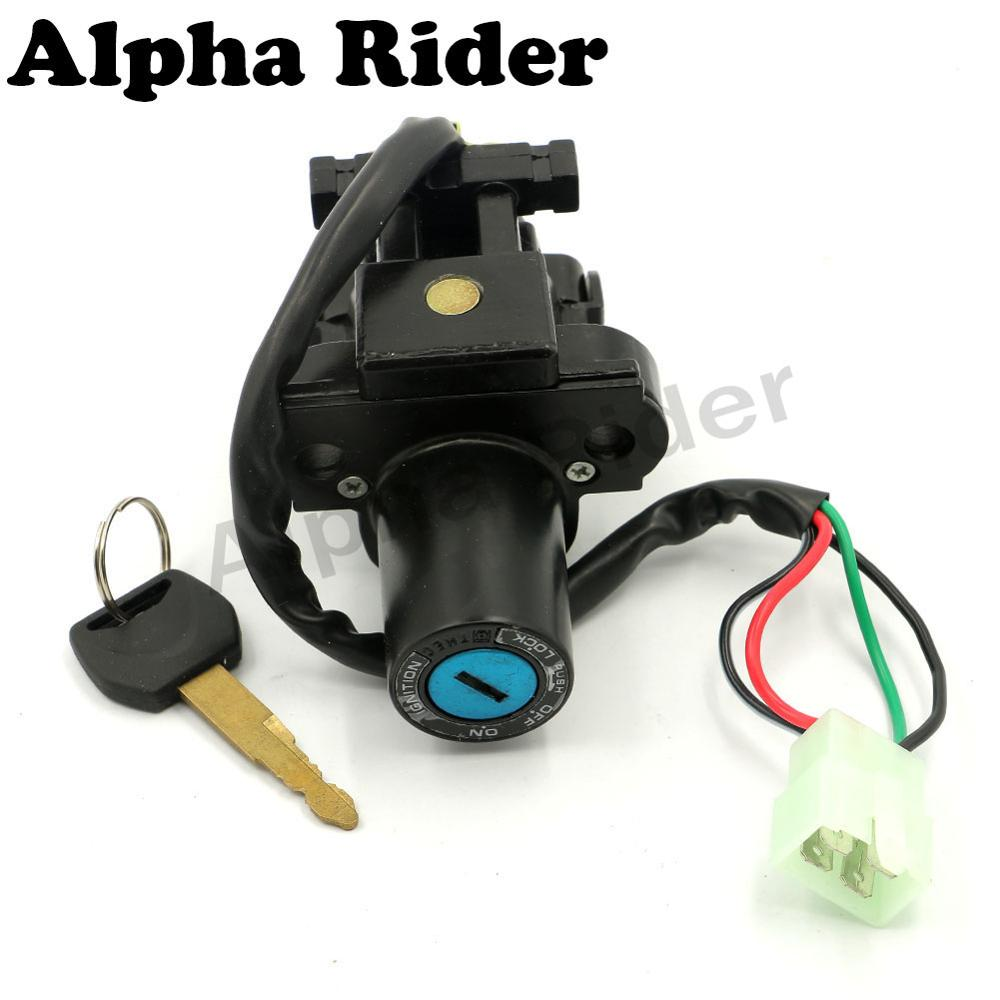 motorcycle 4 wires ignition switch lock key for honda vfr 800 2003 mustang ignition switch wiring motorcycle 4 wires ignition switch lock key for honda vfr 800 2003 2008 cb 900f hornet 900 919 2002 2007 vtr 1000f 1999 2005 in motorbike ingition from