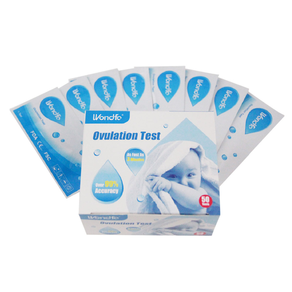 Wondfo 50pcs Ovulation Urine Test Strip LH Tests Kit First Response Ovulation Kits, Over 99% Accuracy Earliest Detection