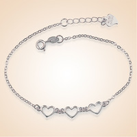LOZRUNVE Silver Bracelet With Heart Shaped Bracelet High Grade Han Edition Accessories Manufacturers Selling Mixed Batch