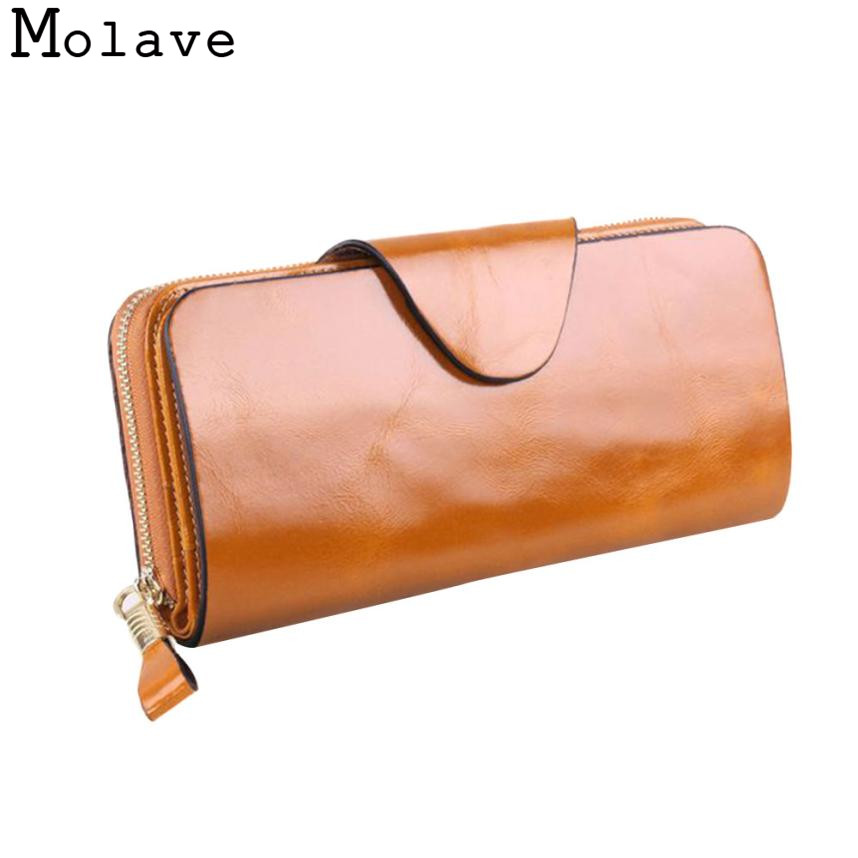 Naivety Solid Genuine Leather Long Wallet Vintage Zipper Wallets Female Business Coin Purse Clutch 30S71201 drop shipping naivety fashion women coin purse pu leather zipper wallet clutch phone bags monedero de la moneda 25s7310 drop shipping
