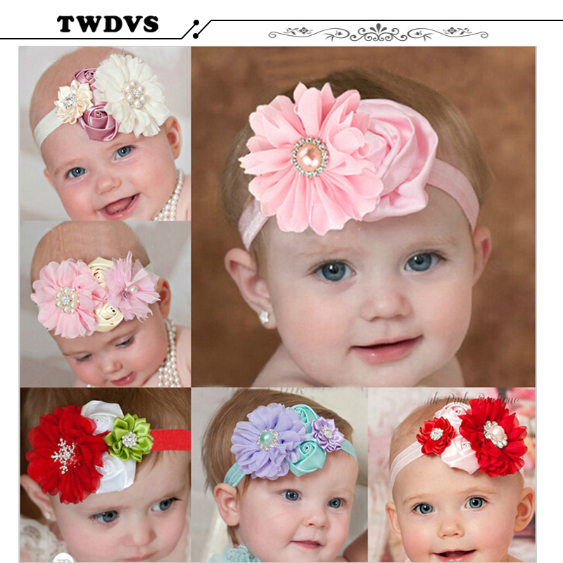 2017 Handwork Pearl 6 Styles Mix 4 Flower Flower Headband Wide - Киімге арналған аксессуарлар - фото 2