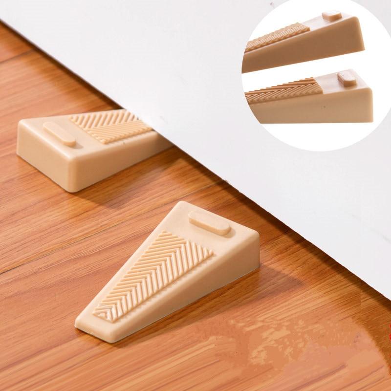 2pcs Thickened windproof rubber door stopper Doorstops holder Children Kids Safety Finger Protection Wedge Baby Safe Doorways