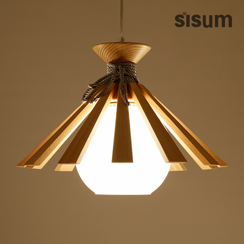 все цены на 2018 NEW Design Wood Glass Creative Bar Restaurant Hanging Lamps Japanese Deco Minimalist wood Pendant Lamp онлайн