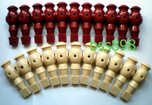 FREE SHIPPING 22pcs/lot ivory/wr 5/8″ rod Foosball Soccer Table football man Player men replacement parts