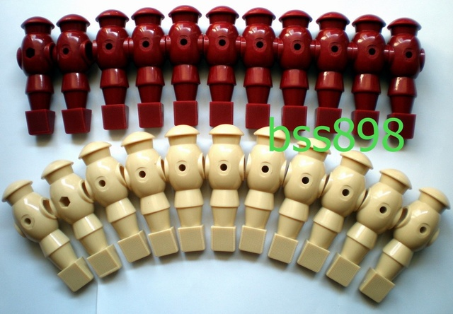 """FREE SHIPPING 22pcs/lot ivory/wr 5/8"""" rod Foosball Soccer Table football man Player men replacement parts"""