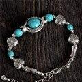 Atacado Bohemia elegante brilhante formato dos olhos turquesa Beads charme pulseira artesanal acessórios de moda jóias