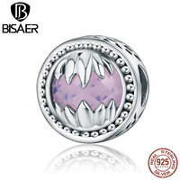 100 925 Sterling Silver Monster S Hand Purple Glass Beads Fit Pandora Original Bracelets Sterling Silver