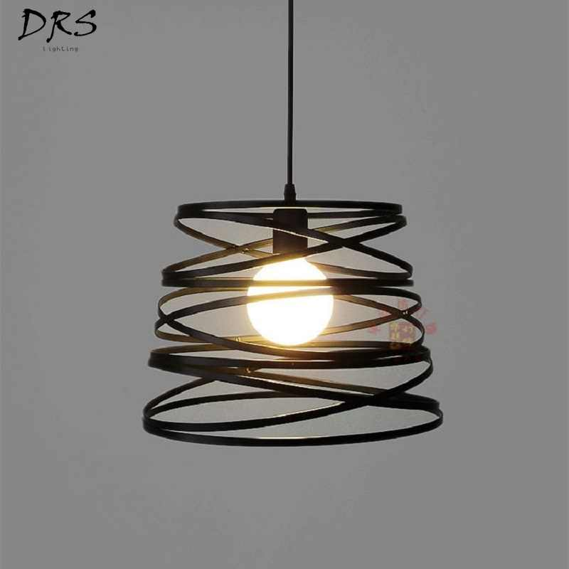 Nordic Simple Led Pendant Lamp Iron Spring Restaurant Bedroom Cafe Chandelier Clothing Shop Window Lustre Led Modern Lighting