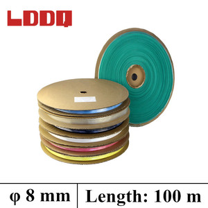 LDDQ 100m Heat Shrink Tubing 8mm Insulation Sleeve 7 colors Available Heat shrink 2:1 Wire Cable Tubing Tube Shrinkable Sleeve