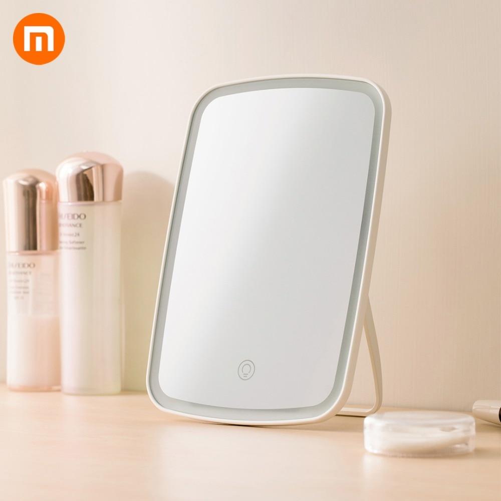 HOT Xiaomi Mijia Intelligent Portable Makeup Mirror Desktop Led Light Folding Light Mirror Dormitory Desktop Adajustable