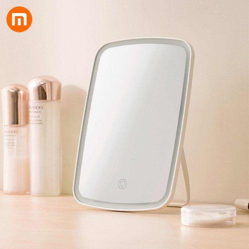 Caliente Xiaomi Mijia inteligente portátil espejo de maquillaje de escritorio luz Led de espejo de luz dormitorio escritorio ajustable base