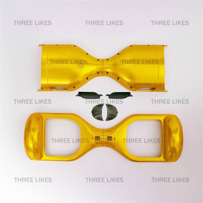 """Prix pour 6.5 """"Hoverboard Couvercle En Plastique Coque Extérieure Avant Led Pièces De Rechange Frame Set pour 2 Roues Équilibre Scooter Électrique Cadre Maison"""