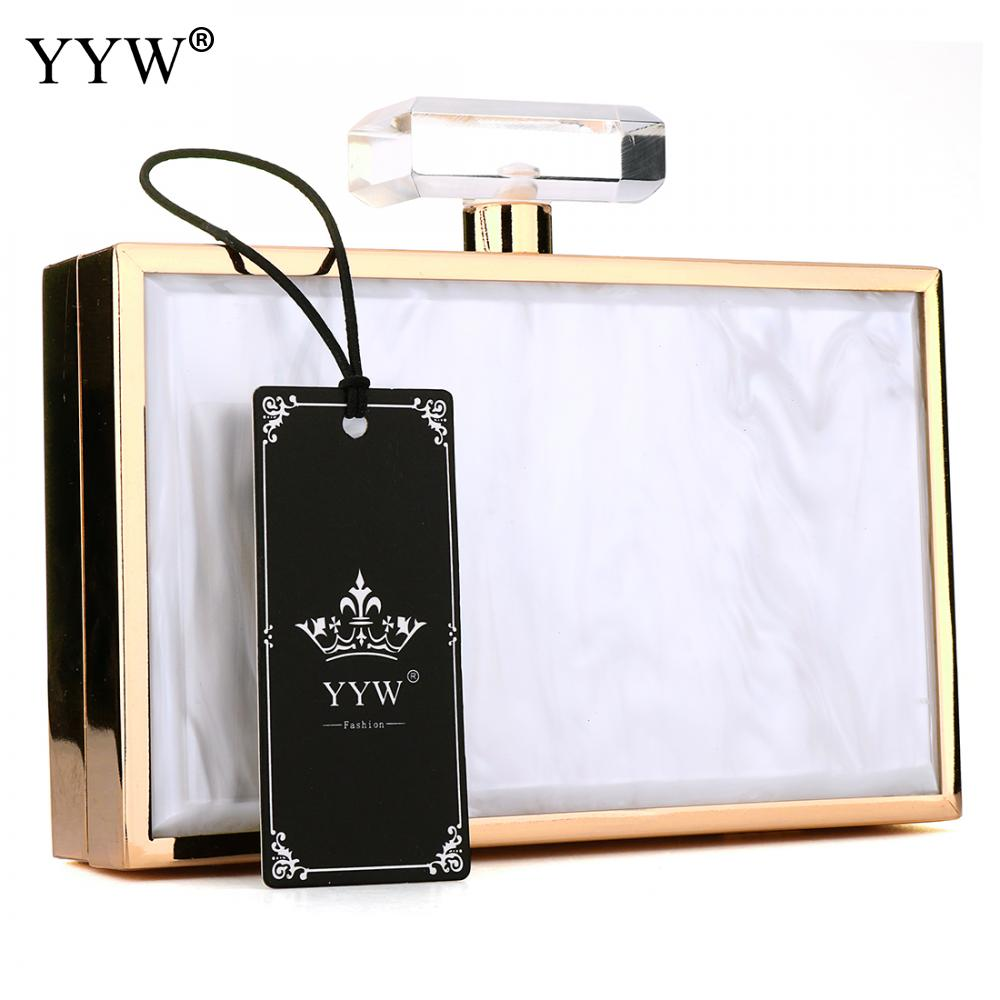 Famous Fashion Female Evenin Party Bag Zinc Alloy Women Handbags White Clutch Bag Black Crossbody Bags