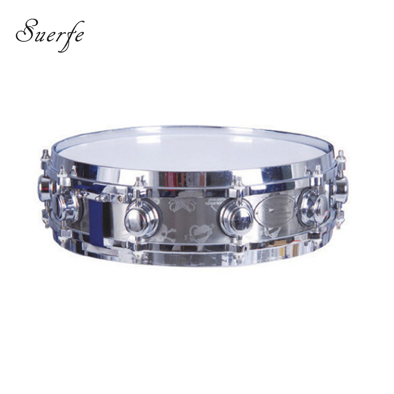 SUERTE 14*3.5 Snare Drum High Quality Stainless Steel Shell Die-cast Hoop Drum Percussion Instrumentos Musicais Profissionais 14 inch double tone afanti music snare drum sna 109 14 page 9