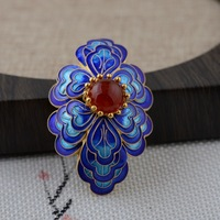 Shaolan silk accessories wholesale S925 silver Beijing traditional manual process DIY high grade essential Badge