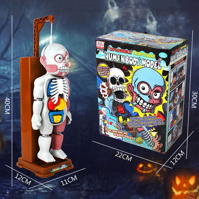 Funny Simulation Human Organs 3D Puzzles Assembled Scary Human Body Model Halloween Tricky Joke Toy Novelty & Gag Toys