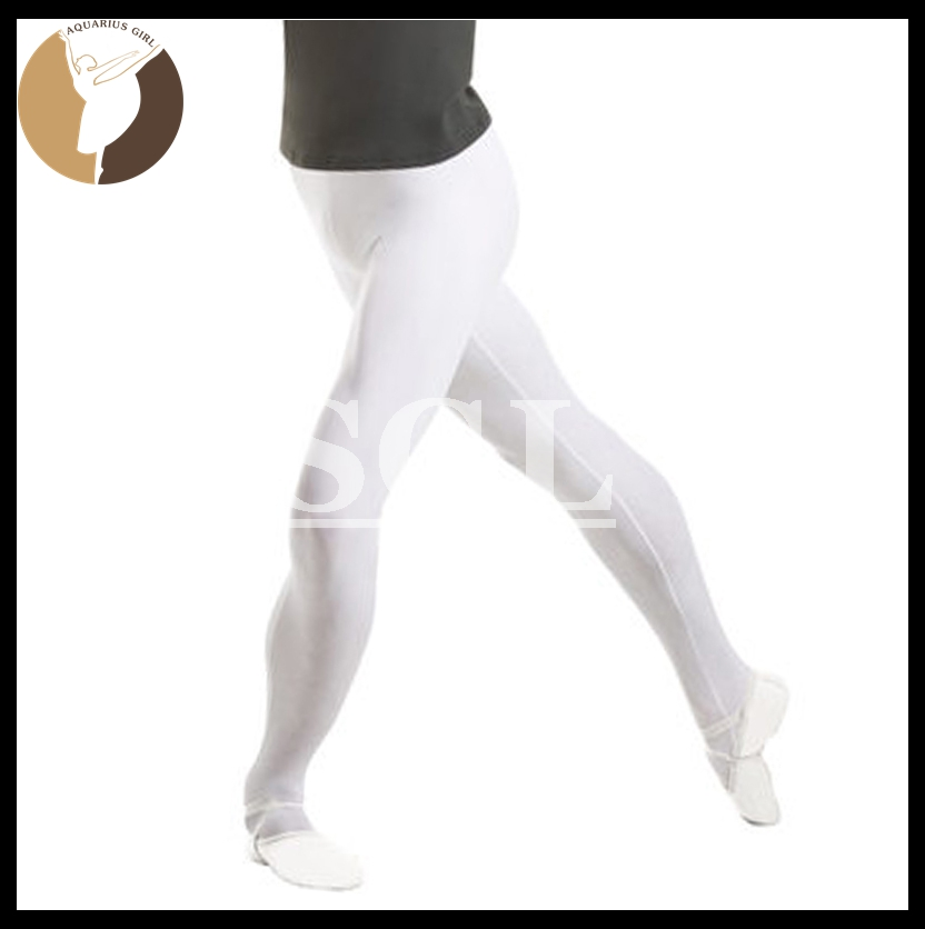 Male Ballet Pants Man Performance Socks Gypsy Pant For Boys Professional Dance Accessory White Black Color EL2007