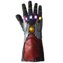 Endgame Iron Man Hulk Thanos Infinity Gauntlet LED Light Latex Gloves Adults Arms Superhero Weapon Halloween Party Cosplay Props