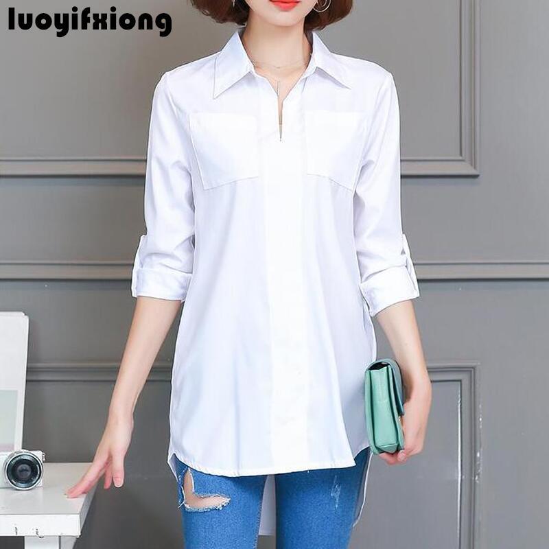 Long Sleeve   Blouse     Shirt   Women Clothes Fashion 2019 Autumn Korean Style Casual Women   Blouses   Plus Size M-4XL   Shirts   Female Tops
