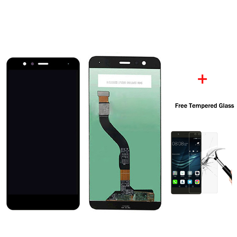 Original For Huawei P10 Lite LCD Display With Touch Screen Digitizer Assembly Black White Gold Free Shipping for huawei p8 lite lcd display touch screen digitizer pantel 5pantalla with frame assembly replacement black white tools