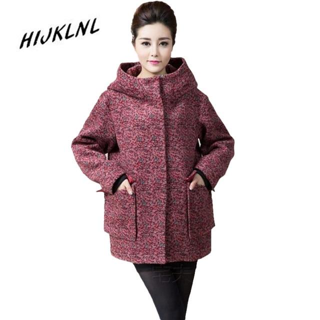 2016 New Winter Women jackets Winterjas Vrouwen Long Coat Jacket Women Winter Plus large size 2XL-8XL Leopard Woolen coat JX103