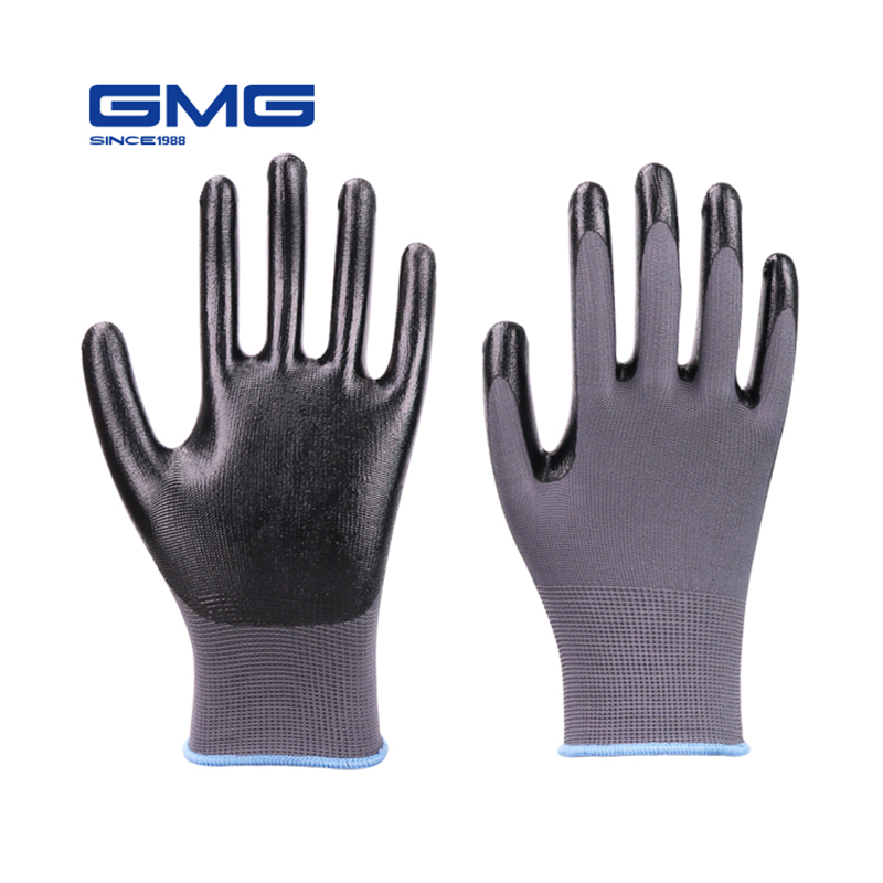 Showa 372 Assembly Grip Gloves White Liner Grey Coated