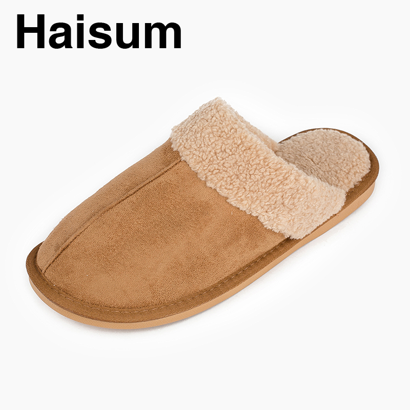 Men 's Slippers Winter Genuine Leather Home Indoor Non - Slip Thermal Slippers 2018 New Hot Haisum L-1809 men s slippers winter pu leather home indoor non slip thermal slippers 2018 new hot haisum h 8007