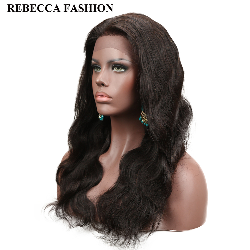 Rebecca Lace Front Human Hair Wigs Pre Plucked 130% Density Malaysian Hair Lace Wig Body Wave 10-20 Inch Remy Free Shippng