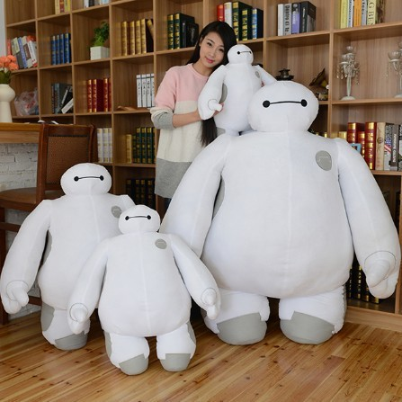 High quality Big size 50cm Baymax Cartoon Movie Plush Dolls Stuffed Toys Big Hero 6 baby toys baymax plush kids gift 40 & 30 cm