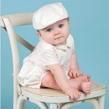 Baby Boys Baptism Gown Boys Christening Clothes 1st Birthday Party Wedding Baby Boy Clothes Dress Gentleman Baby Outfit With Hat heirloom baptism dress baby girls royal christening gown floor length short sleeve o neck baby girls birthday gown with ribbon