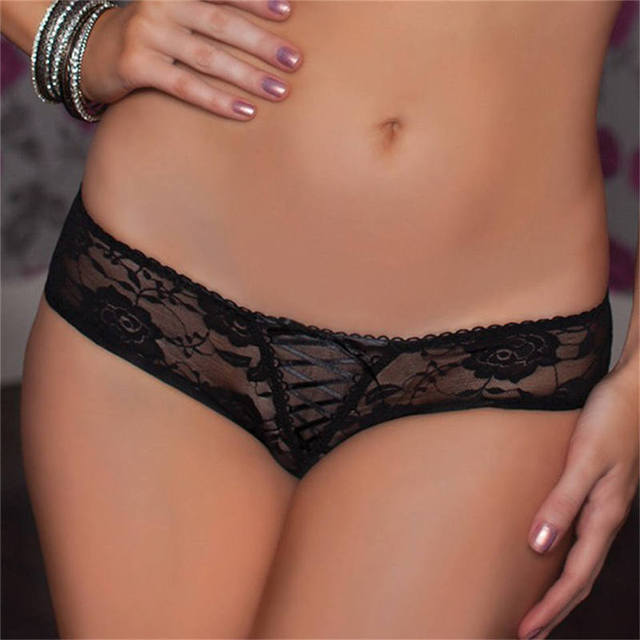 Sexy Crotchless Panties Open Crotch Lace Thongs Underwear 3