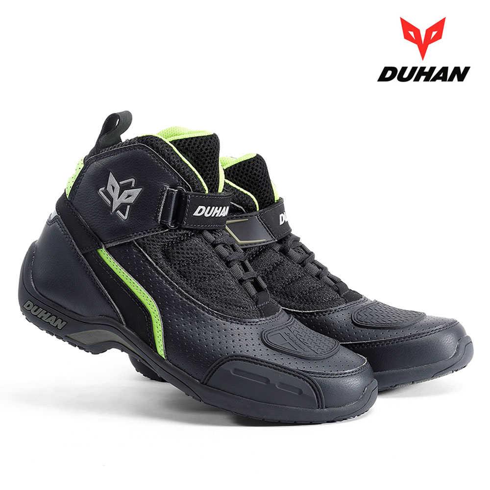 officiell butik stor rea populära butiker Duhan New 4 Seasons Boots Suede Motorcycle Racing Boots Motocross ...