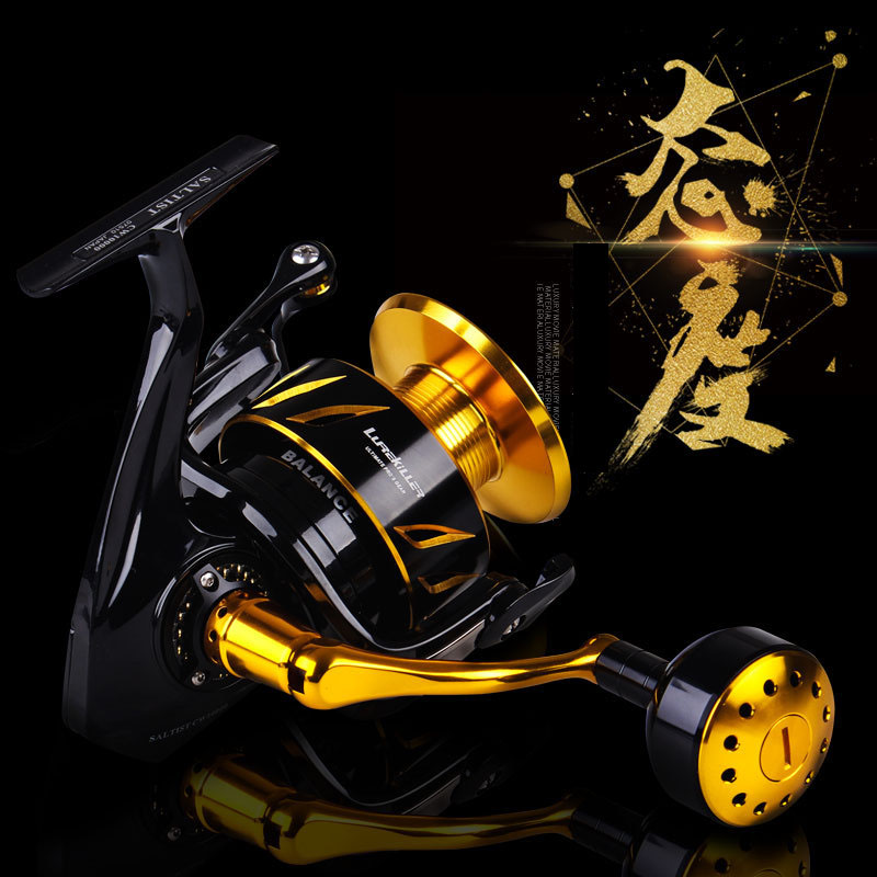 Lurekiller tout métal filature pêche bobine 35Kg glisser puissance en acier inoxydable roulement à billes CW4000/6000/10000 eau salée coulée
