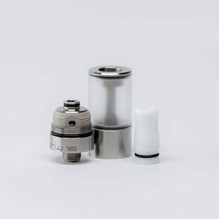 5pcs lot YFTK 16MM Dvarw Style MTL RTA Rebuildable Tank Atomizer 2ml Capacity 316 Stainless Steel