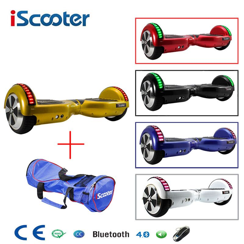 iScooter Bluetooth Hoverboard Self Balancing 6.5inch Electric Skateboard Hover Board gyroscope Electric Scooter standing Scooter iscooter hoverboard 6 5 inch bluetooth and remote key two wheel self balance electric scooter skateboard electric hoverboard