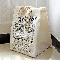 2016 new cotton linen vải giặt giỏ giỏ đóng gói lưu trữ quần áo giỏ công suất lớn có thể gập lại bẩn quần áo lưu trữ basket