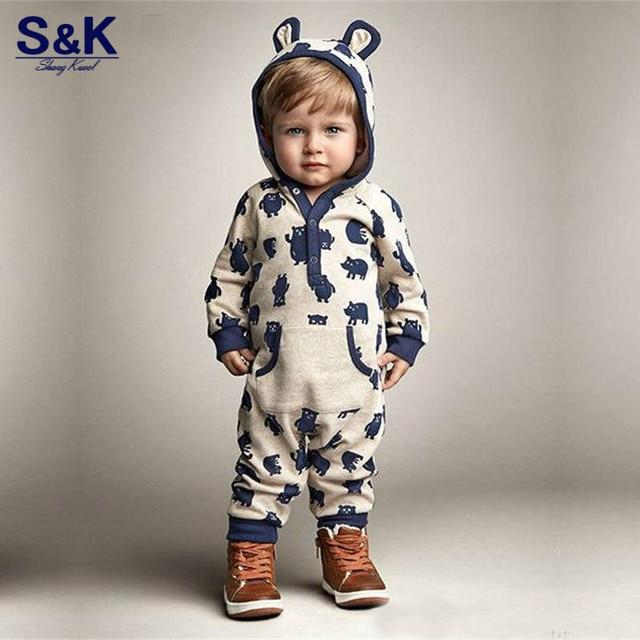 e3bf81958 Cute Newborn Infant Baby Boy Girl Kid Ear Hooded Romper Long Sleeve ...