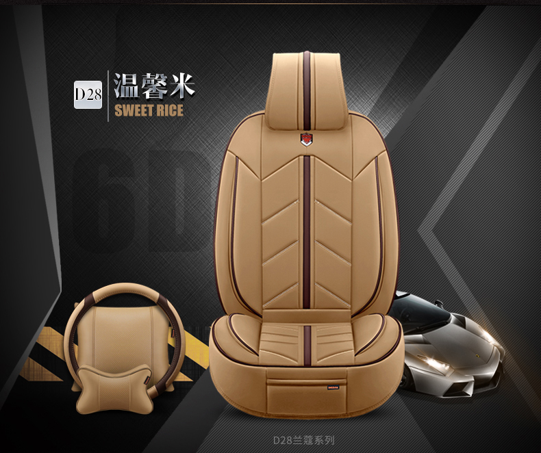 (Front + Rear) 2018 New  Luxury Leather  Car Seat Cover Car Styling  For Volkswagen Bmw Ford Passat