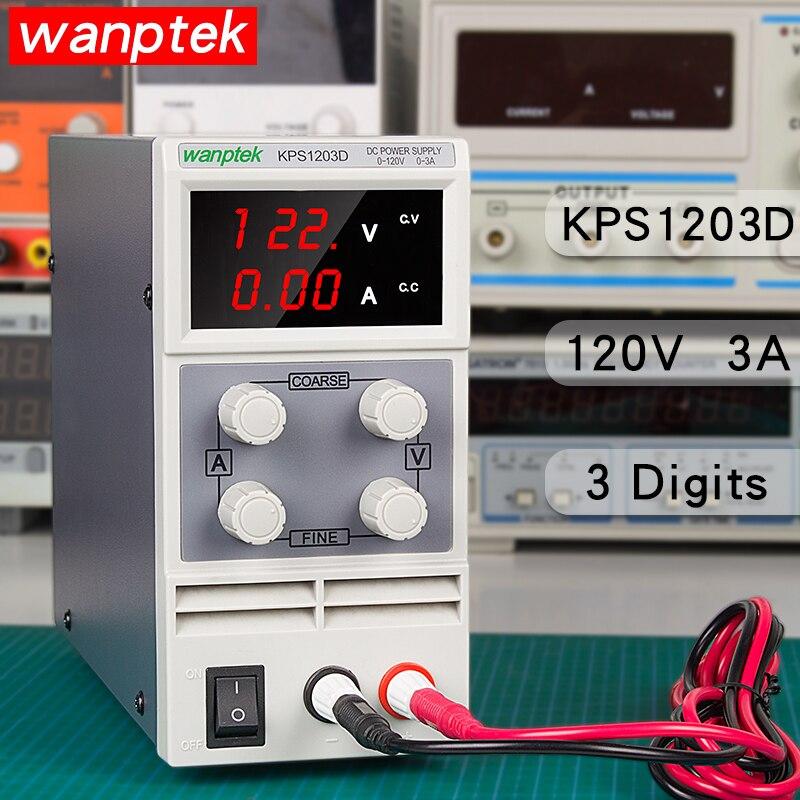 Wanptek KPS1203D 120V 3A adjustable lab dc bench power supply transformers 3 digital display switch DC Power Supply transformer