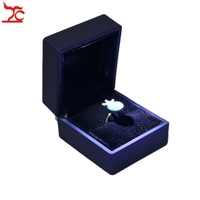 Rubber Painted Soft Jewelry Display Ring Pendant Necklace Bracelet Box For Jewelry Gift Packaging With LED