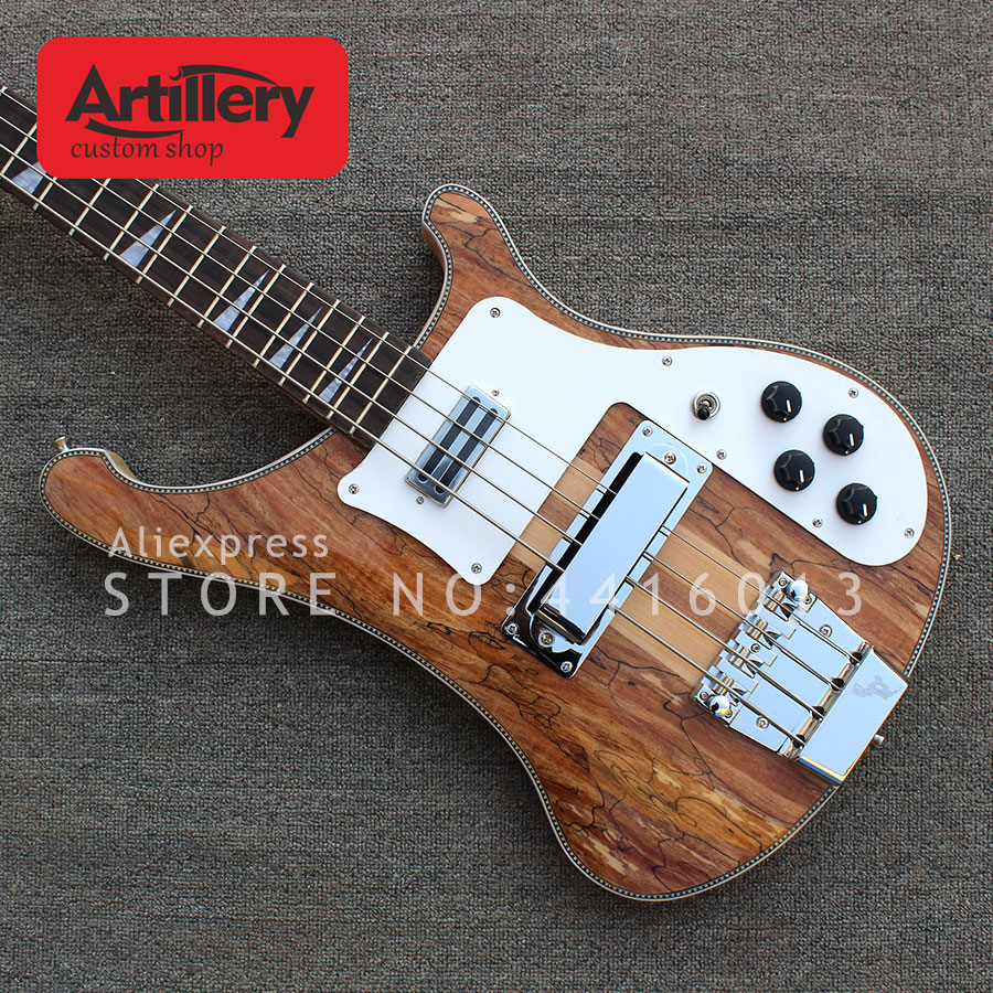 artillery factory custom top quality 4 strings rickenback bass guitar spalted maple top musical. Black Bedroom Furniture Sets. Home Design Ideas
