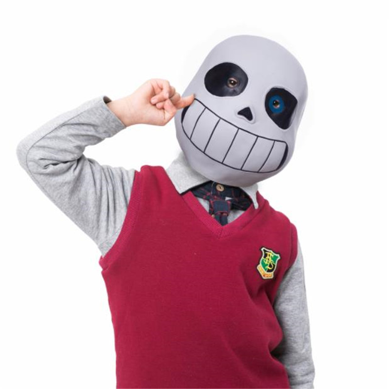 Game Undertale Sans Cosplay Mask Kids Adult Fancy Ball Luminous Masks Latex Full Face Helmet Cosplay Props Accessories