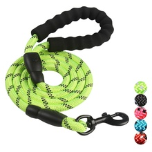 Pet Supplies Reflective Dog Leash Multicolor Round Rope Dog Chain Soft Handle High Quality Pet Leashes Rope For Large Dog Chain e3gf pet dog chain leash red silver
