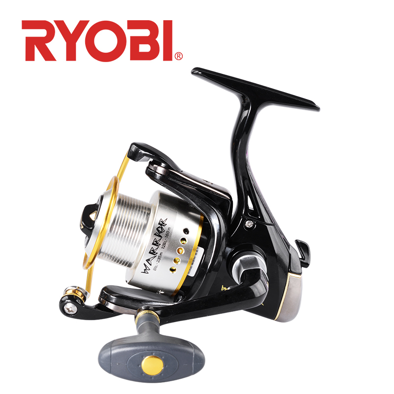 100% original <font><b>RYOBI</b></font> WARRIOR VI Spinning Fishing Reel 1000~4000 6000/8000 series 6+1BB gear ratio 5.0:1/5.1:1 drag power 2.5~8kg image