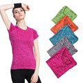 S-XL 5 Color Women's Quick Drying Short T-Shirt  Workout Clothes for Women T-shirt Hygroscopic Slim T-shirt women Tops