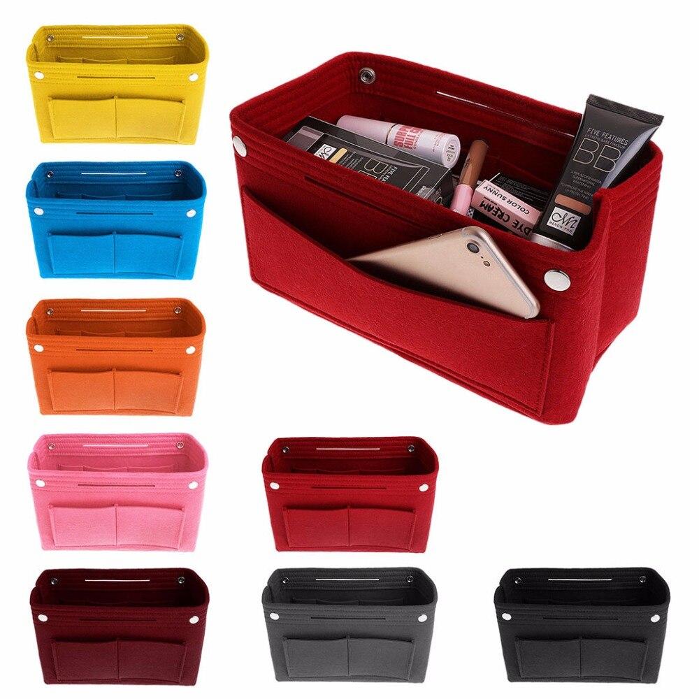 100% Wahr Filz Make-up Tasche Handtasche Organizer Geldbörse Einsatz Tasche Stoff Lagerung Kosmetische Beutel Größe L/m/s Einen Effekt In Richtung Klare Sicht Erzeugen