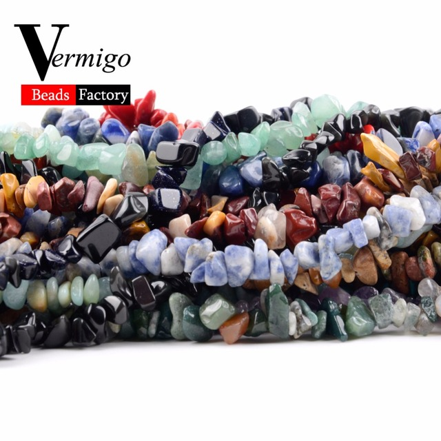 Irregular Freeform Chip Gravel Beads Natural Stone Amethysts Tiger Eye Beads For Jewelry Making 3-5-8-12mm Diy Necklace 16inches 3